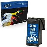 RINKLEE Remanufacturado para HP 350XL Cartucho de Tinta Compatible con HP Photosmart C4280 C4340 C4380 C4480 C4485 C4580 C5280 D5360 Deskjet D4260 D4360 Officejet J6424 J5780 J5785 | Negro