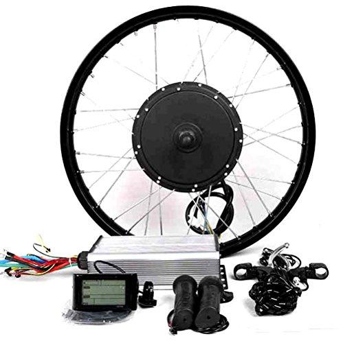 "theebikemotor 3000W Hub Motor Bicicleta eléctrica Kit de conversión + LCD or TFT Display + Freno de Disco Rueda Trasera (26"" * 4.0 Fat Wheel + 7 Speed Gear, 72V3000W + LCD Display)"