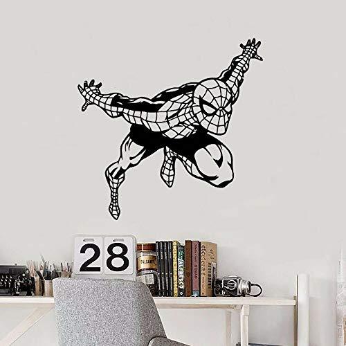 Tianpengyuanshuai Hero Spider Wandaufkleber Kinder personalisierte benutzerdefinierte Vinyl Wandaufkleber 57X58cm