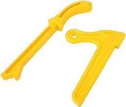 Empuje de plástico, plástico fuerte que evita el rebote estrecho bloque de seguridad con plástico (amarillo)