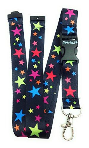 Correa de cuello para el teléfono SpiriuS, cordón con gancho de seguridad a la moda para el móvil, las llaves, tarjetas de identificación, color rainbow stars