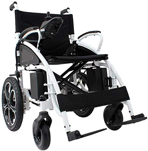 Alton All Terrain Heavy Duty Powerful Dual Motor Foldable Electric Wheelchair Motorized Power Wheelchairs Silla de Ruedas Electrica para Adultos. Supports up to 300 lbs - Weight 70 lbs (Black)