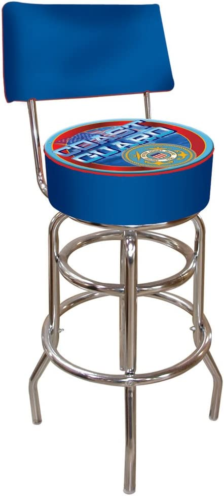United States Coast Guard Padded Stool with Back Ranking Low price TOP1 Bar Swivel
