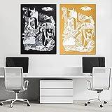 XNHXPH Picasso Canvas Wall Art Guernica Arte cubista Carteles Abstractos e Impresiones Arte de Pared Vintage Pintura Moderna para decoración del hogar Imágenes 50x70cmx2 Sin Marco