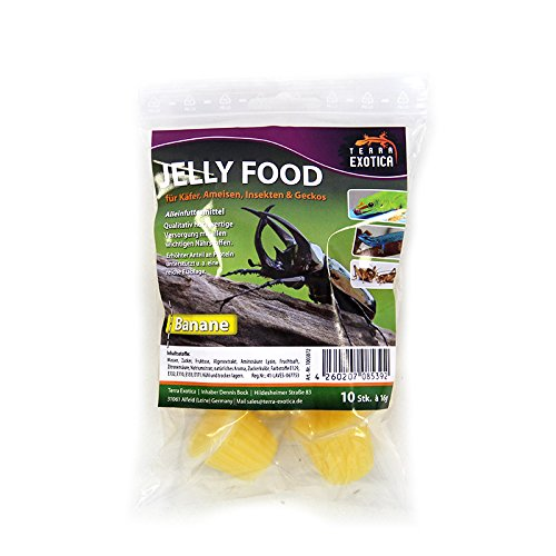 Terra Exotica Jelly Food - Banane 10 Stück im Beutel, Fruitjelly, Beetlejelly - 10 x je 16g
