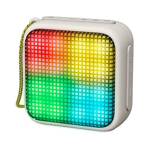 Energy Sistem Beat Box 2+ Lightcube Altavoz portátil con Bluetooth(Beat Lights, TWS, Bluetooth v4.2, 5W, microSD MP3, FM Radio) - Gris