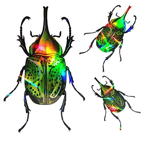 Y012 Käfer Hologramm Wandtattoo Kinderzimmer Wandaufkleber Aufkleber Kinder Folie 27x18cm