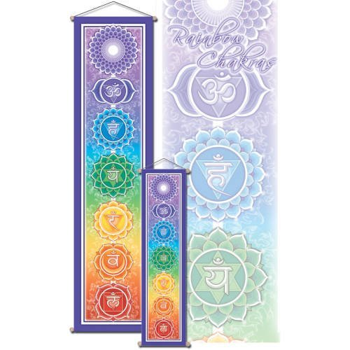 24 x 6 Rainbow Chakra Banner, By Bryon Allen by Mandala Arts