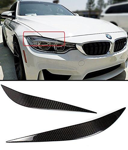 Cuztom Tuning Fits for 2012-2019 BMW F32 F33 F36 & F80 F82 F83 M3 M4 Carbon Fiber Headlight Eye lid Cover Eyebrows - Pair