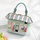 WWFF Der Neue Querschnitt Schnalle Handtaschen Mobile Messenger Bag Kleine Frische Parkett Paket 27CM * 10.5CM * 24CM Gute Qualität (Farbe : Green)