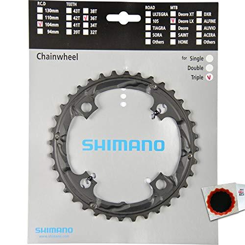 Shimano Kettenblätter DEORE LX FC-T661 36 Zähne 104mm Aluminium schwarz Fahrrad