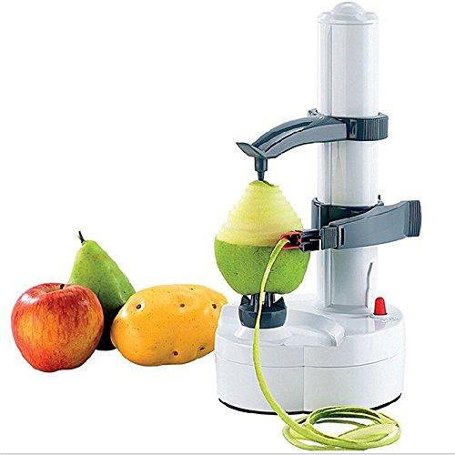 Paracity 2015 - Pelador de fruta eléctrico multifunción, acero inoxidable