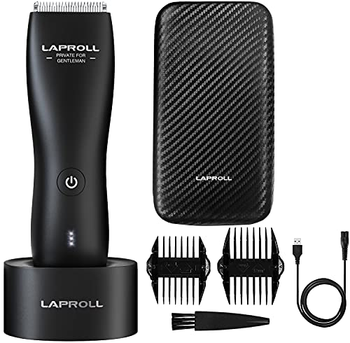 Electric Groin Hair Trimmer for Men, Body Hair Trimmer with Case, Waterproof Wet/Dry Body Groomer...