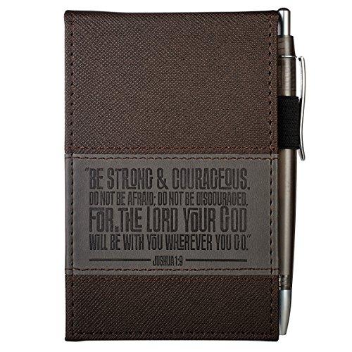 Joshua 1:9 Two-tone Pocket Notepad w/Pen