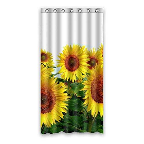 Wild costumes 90 cm X183 cm (91,4 x 182,9 cm) Badezimmer Dusche Vorhang, allgemeine Beautiful Sunflower Custom Design Casual Fashion Wasserdicht Duschvorhang, Polyester, E, 36