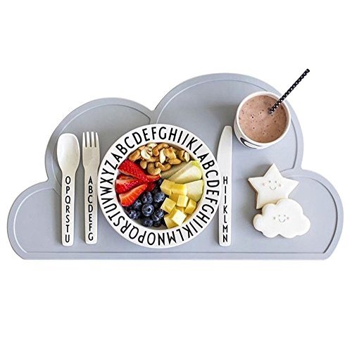 Product Image of the Kids Placemat - Eating On The Cloud, Silicone Placemat Waterproof Baby Placemat,...
