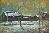 1art1 Vincent Van Gogh - Der Alte Bahnhof In Eindhoven, 1885 Ölgemälde 90 x 60 cm
