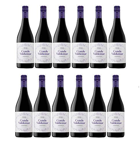 Conde Valdemar Tempranillo Rioja DOCa Rotwein veganer Wein trocken Spanien (12 Flaschen)