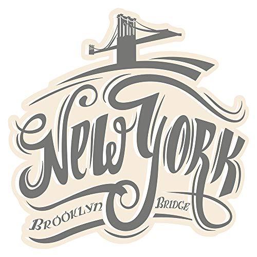 Wandtattoo USA Wandsticker Schriftzug New York Brooklyn Bridge Amerika Wandtatt