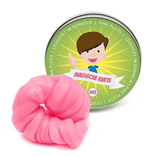 Pink Papaya Magische Knete - Pink Pluto - pink leuchtende Fidget Knete, das intelligente Knetgummi leuchtet im Dunkeln, BPA Free - in vielen Farben mit verschiedenen Eigenschaften