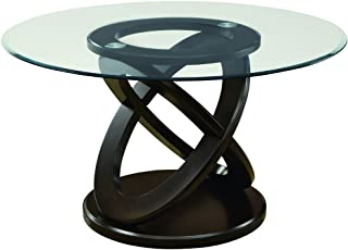 Monarch Specialties I Tempered Glass Dining Table, 48