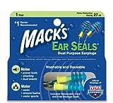 Mack's Seals - Tapones para los oídos para natación, Color Multicolor
