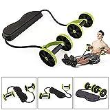 Xxsmile Multi Función Fitness Ruedas Dobles ABS Kit Entrenador Abdominal Kit Equipo de Ejercicio de Resistencia Set Home Gym Equipment