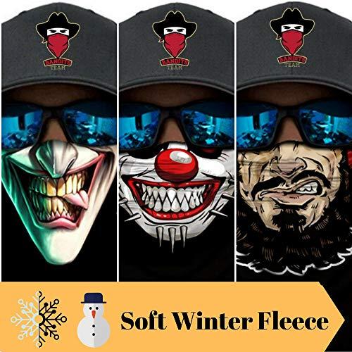 Bandits Team I Bedrucktes Multifunktionstuch I Face Shield aus Mikrofaser- fürs Motorrad-, Fahrrad- und Skifahren I Farbe: Fleece-3er Pack #1 I 3er Pack mit Soft Winter-Fleece