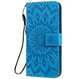 Dfjhure Funda para Samsung Galaxy S21 Plus, funda tipo libro de piel sintética, función atril, cierre magnético, ranura para tarjeta de identificación, para Samsung Galaxy S21 Plus, color azul
