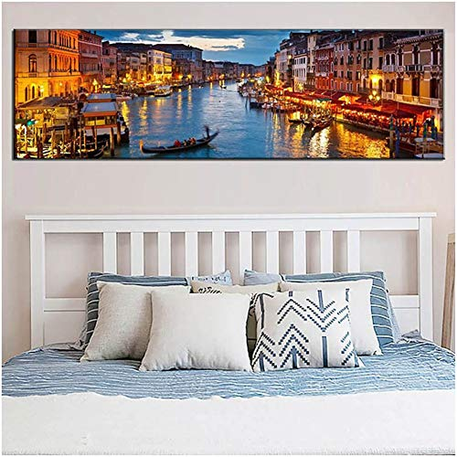 Diamond Art Painting Kits for Kids Full Drill Large 5D Diamond Painting Landscape Water Town 80x220cm/32x88in Square Drill Rhinestone DIY Diamond Embroidery Cross Stitch Arts for Home Wall Decor L3633