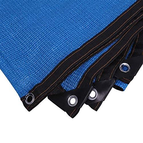 fdxcf Pantalla de tela de sombreado neto del agujero del metal Diseño Protector solar Resistencia al desgarro peso ligero Patio de polietileno, 23 Tamaños,Azul,4 * 8m