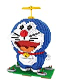 Anime Doraemon Blue Gato Figura Bloques De Construcción Animal Cartoon Modelo 3D DIY Mini Diamond Blocks Montaje De Juguete para Regalo De Niño