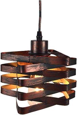 Industrial Lámpara Colgante De Metal Jaula De Escalera Vintage Iluminación Colgante Retro Hierro Edison Loft Lámpara de Techo, Bar, Sala De Estar, Comedor, E27,Metallic: Amazon.es: Iluminación