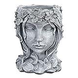Baoblaze Pflanztopf Büste, Gesicht Skulptur Sukkulenten Kaktus Kopf Blumentopf Blumentöpfe Pflanzer Container für Home Garten Büro Desktop Dekoration