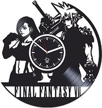 Kovides Final Fantasy Clock, Online Game, Best Gift for Gamer, Vinyl Record Clock, Birthday Gift for Him, Vinyl Wall Clock, Home Decor, Comics Marvel, DC Movie, Wall Modern Art, Unique Design