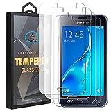 Ycloud 4 Pack Vidrio Templado Protector para Samsung Galaxy J1 2016 J120F, [9H Dureza, Anti-Scratch] Transparente Screen Protector Cristal Templado para Samsung Galaxy J1 2016 J120F