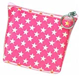 Image of 3D Lenticular Coin Pruse - Pavia, with YKK Zipper, STARS, PINK, WHITE,
