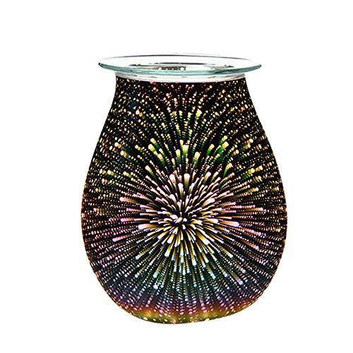 styleinside 3D Firework Glass Electric Melt Warmer Oil Burner Melter Fragrance Diffuser