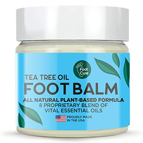 Fungus Tea Tree Oil All-Natural Foot Balm, Moisturizing Foot Cream For Dry Feet & Cracked Heels, Callus Remover– Foot Care for Itchy Feet, Toenail Care, Athletes Foot, Remove Calluses, Callus Shaver