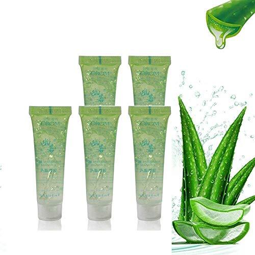 EIIUHIAHS El Gel De Aloe Vera Natural Puro Cura La Crema Hidratante De La Piel, El Gel De Aloe Puro No Irritante,Gel De Aloe Vera 100 Natural, La Cara (5PCS)