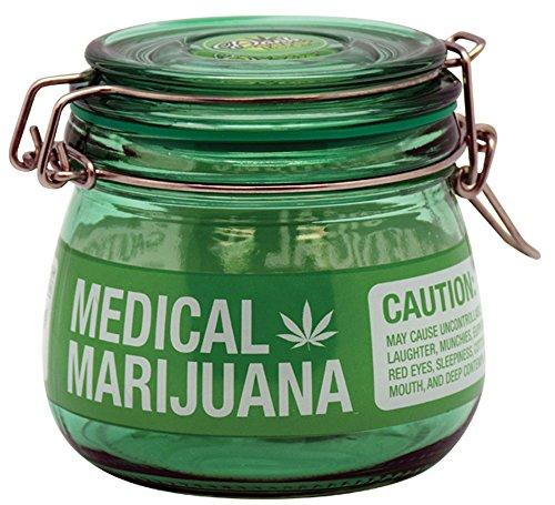 Medical Marijuana Glass Jar - Small / 2.85 x 3