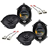 Harmony Audio Bundle Compatible with 1997-2003 Ford F-150 (2) HA-R68 5x7 6x8 New Factory Speaker Replacement Upgrade Package 225W Speakers with HA-725512 Factory Speaker Replacement Harness