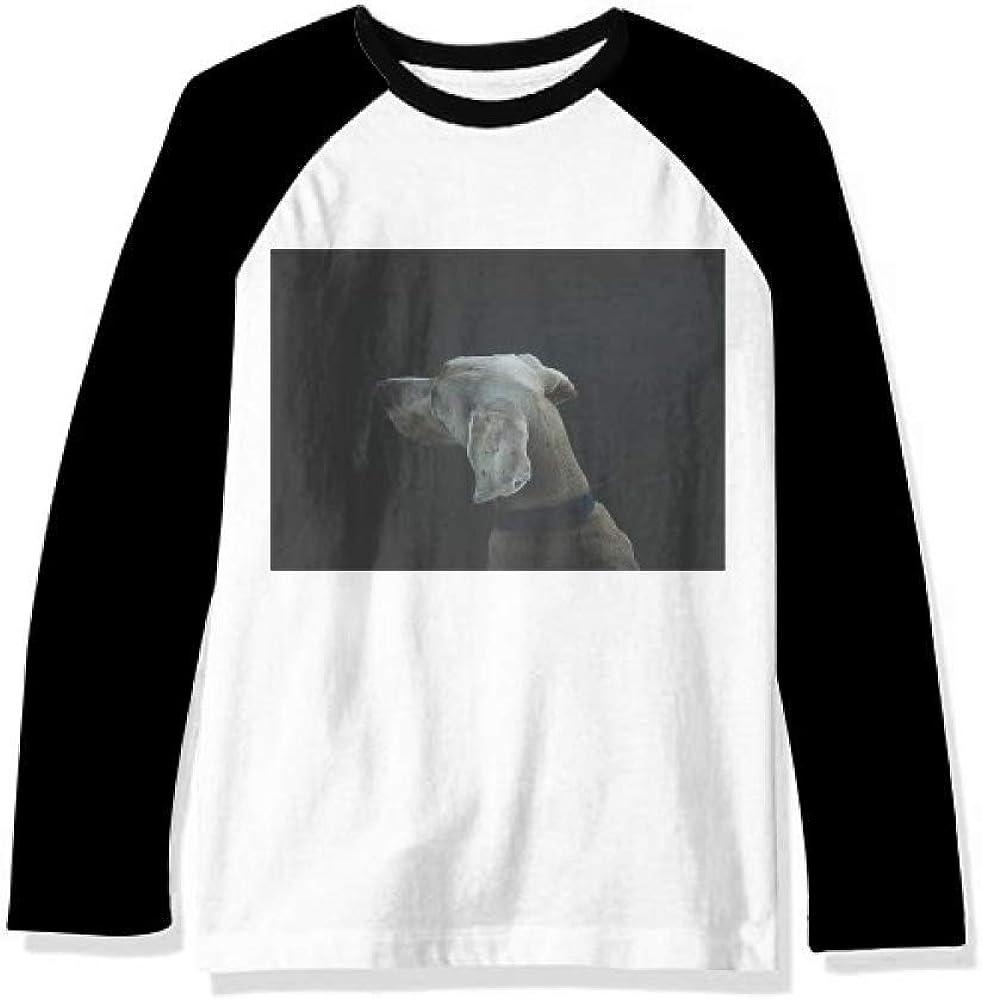 Dog Pet Animal Fashionable Lonely Night Gorgeous Long Top Sleeve Cloth Raglan T-Shirt