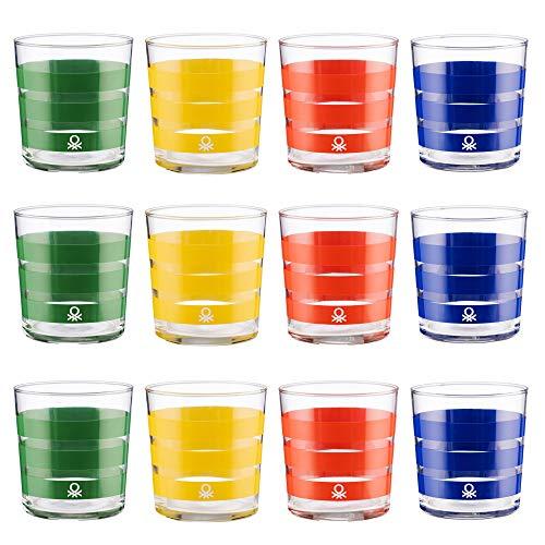 UNITED COLORS OF BENETTON. PK2002 Set cristalería 12 piezas de vasos de...