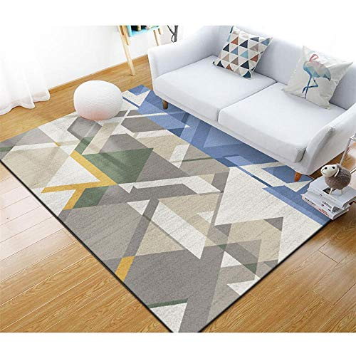 alfombras Comedor Alfombra geométrica Gris para salón alfombras Salon alfombras de habitacion Infantil 120X160CM 3ft 11.2' X5ft 3'