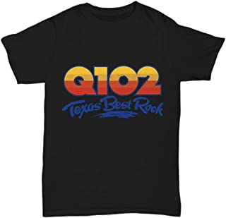 Q102 Texas Best Rock DFW Dallas Ft. Worth Black Tee Shirt - Unisex Tee