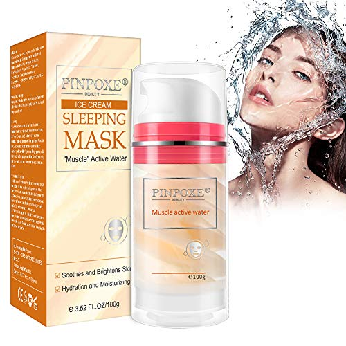 Gesichtsmaske, Reinigung Maske, Mitesserentferner Maske, Sleeping Face Mask mit Hyaluronsäure, Reinigt die Poren und verwöhnt das Gesicht, Detox Tiefenreinigung Maske zur Entgiftung der Haut,100ml