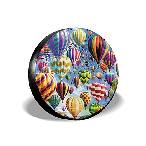 LYMT Spare Tire Cover Universele Wiel Tire Cover Protector - Hot Air Balloon Fit voor Trailer, RV, SUV en Veel Voertuig 14-17inch