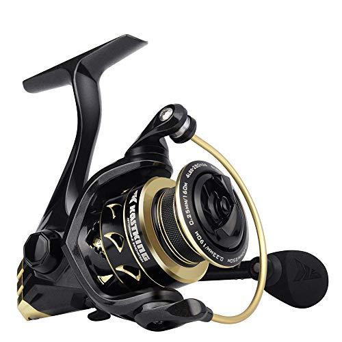 Carrete Giratorio Dorado 6.2: 1 Relación de transmisión de Alta Velocidad Carrete de Pesca de Agua Dulce y Salada 7 + 1 rodamientos de Bolas-Serie 4000_China