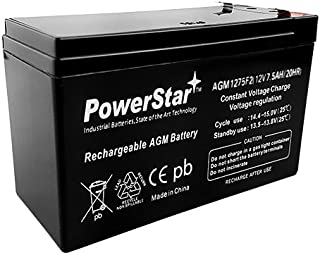 PowerStar Security Alarm System Battery 12V 7.2Ah SLA Security Certified-Electronics